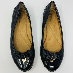 WHITE MOUNTAIN Moondance Black Quilted Round Flats